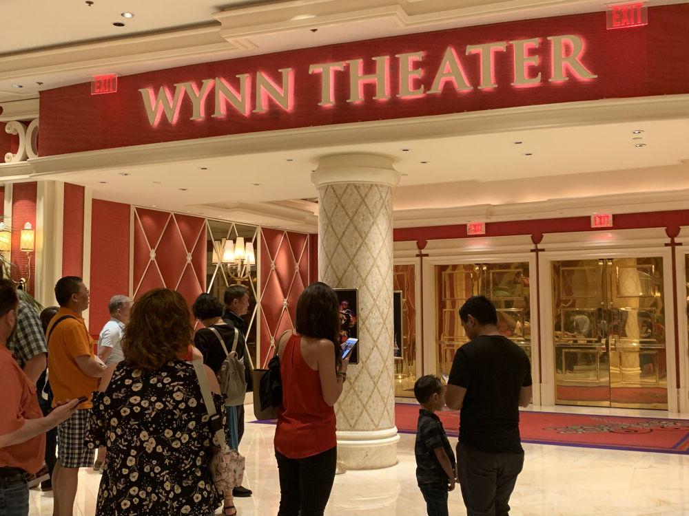 fachada do teatro Wynn