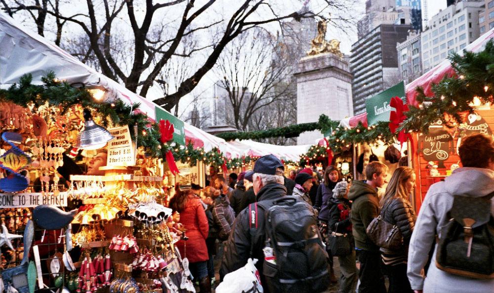 Mercado de Natal em Nova York