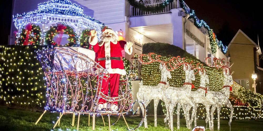 Casas decoradas no Natal