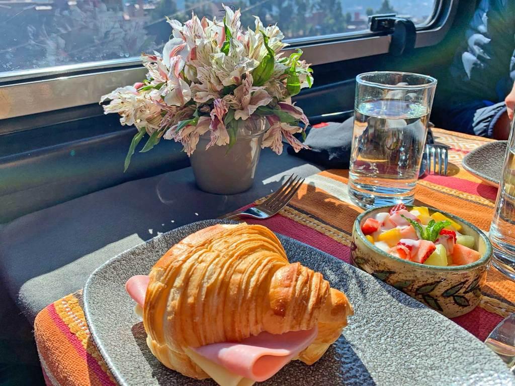café da manhã Inca Rail