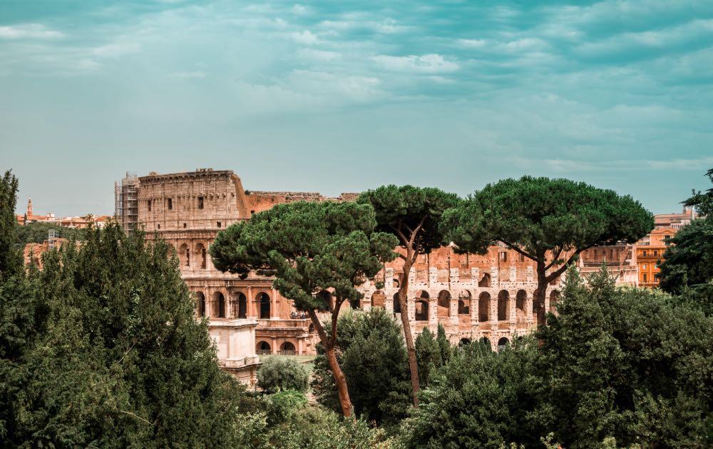 Fachada do Coliseu de Roma