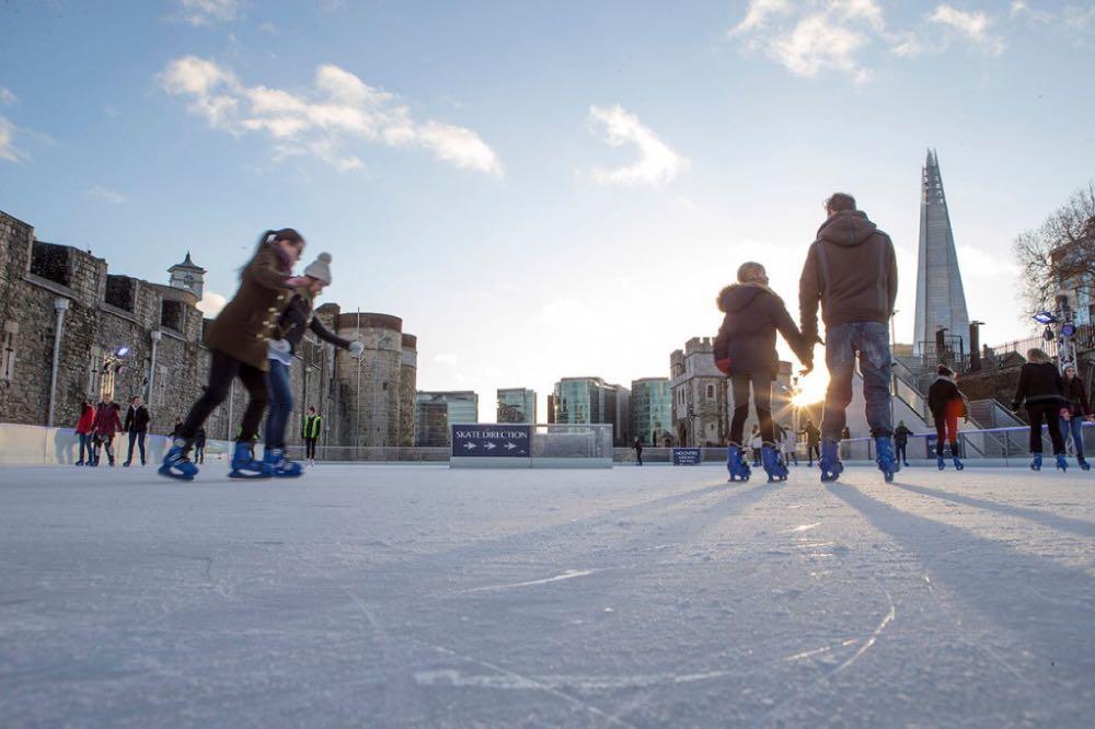 pista de patinação - natal em londres