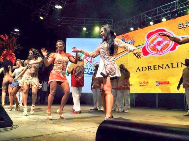 Atriz Miriam Duarte estreia na Tom Maior no carnaval de São Paulo