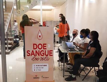 São Gonçalo Shopping promove campanha de doação de sangue para o Hemorio
