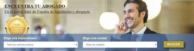 Buscador de abogados en España