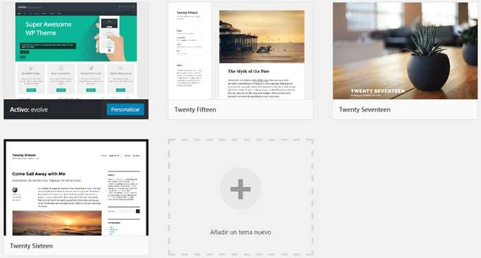 Plantillas Theme WordPress