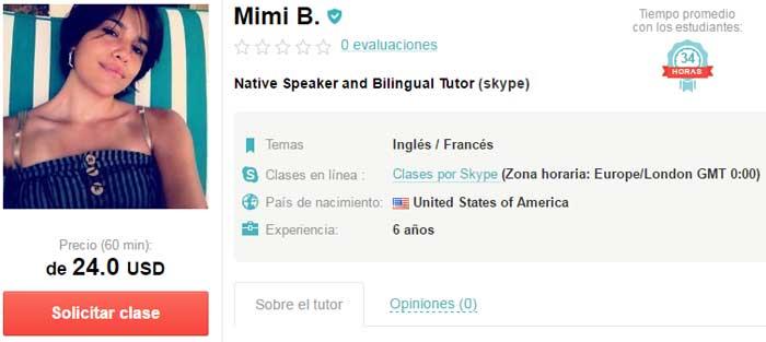 Profesor de inglés online