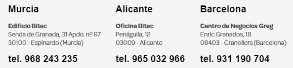 Delegaciones Bitec España
