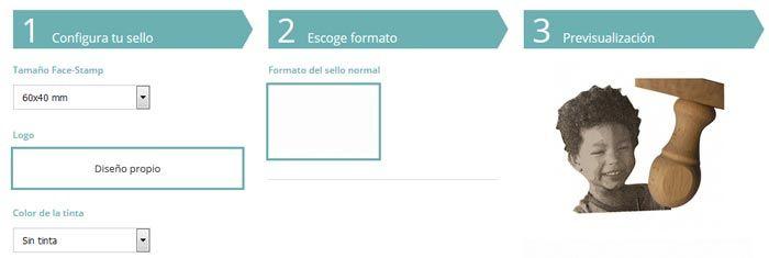 Personalización de sellos Facestamp
