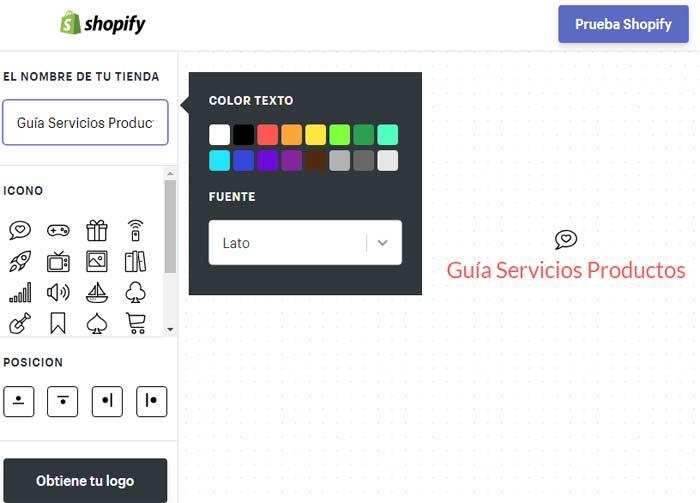 Crear Logo Shopify
