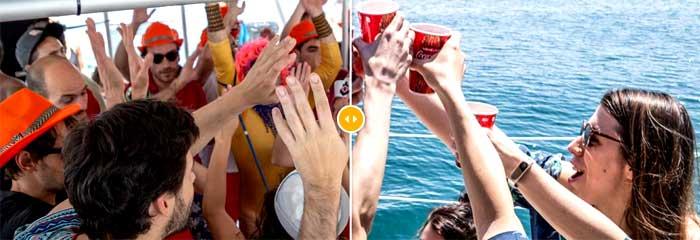 Fiestas en barco Málaga