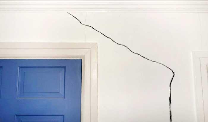 Grietas en paredes