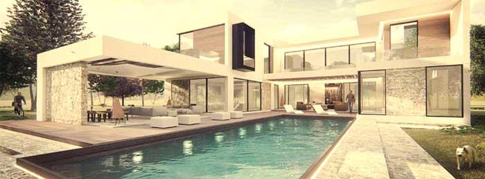 Diseño jardines con piscina