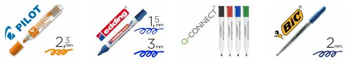 Tipos de rotuladores por tamaño