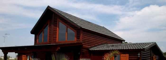 Tejados casas de madera