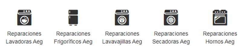Tipos de reparaciones electrodomésticos Aeg