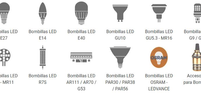 Tipos de bombillas LED