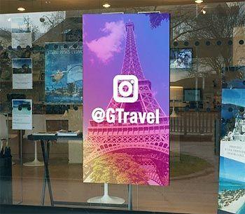 Pantallas LED para agencias de viajes
