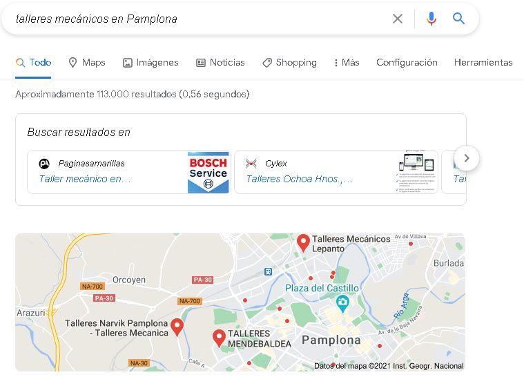Servicios SEO Local Pamplona