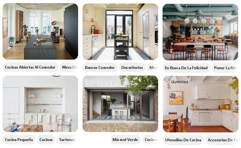 Diseños de cocinas en Pinterest