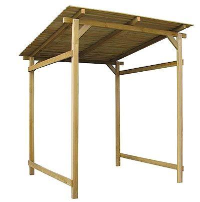 Marquesina de madera para jardín