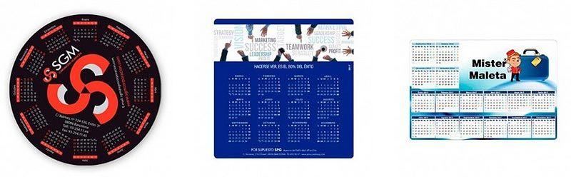 Calendarios personalizados alfrombrillas ordenador