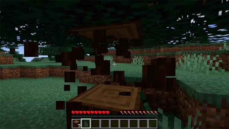 Talar árbol en Minecraft