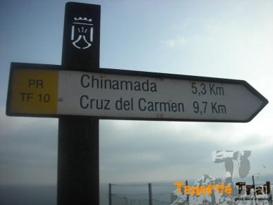 Detalle del PR 10 hacía Cruz del Carmen