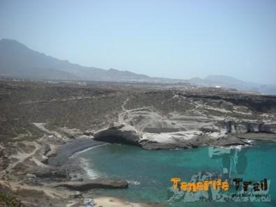 Detalle de los senderos cerca de La Caleta