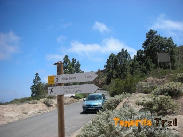 Al Contador por Ortiz (barranco y zona de escalada)