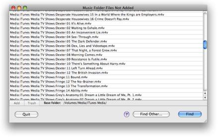 music folder files not added 2