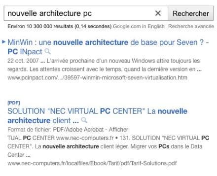 Future Présentation des SERPs Google ?