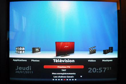 Le Menu de la Freebox TV