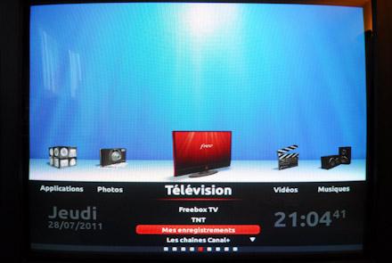 Menu de gestion des émissions enregistrées sur la freebox revolution