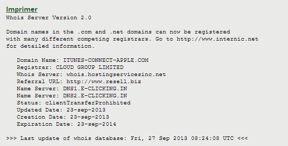 Whois fishing apple itunes