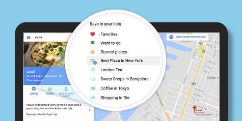 creer une liste google streetview