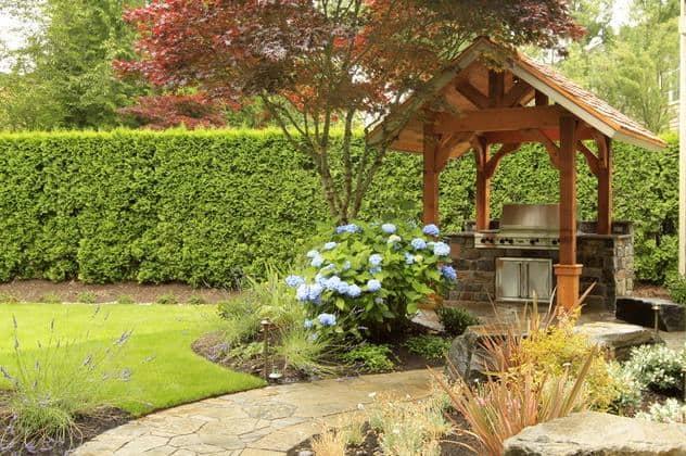 Barbecue in giardino idee e ispirazioni guida giardino - Zona barbecue in giardino ...