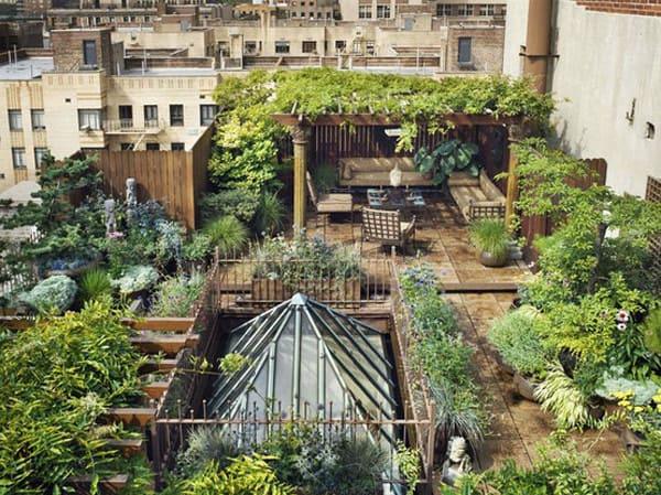 giardini sull'attico