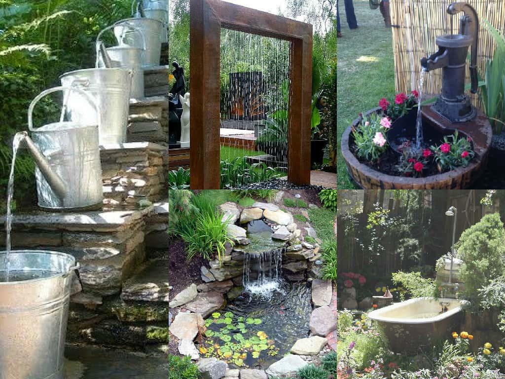 Fontanella Da Giardino In Mattoni : Idee per realizzare laghetti fontane e giardini acquatici