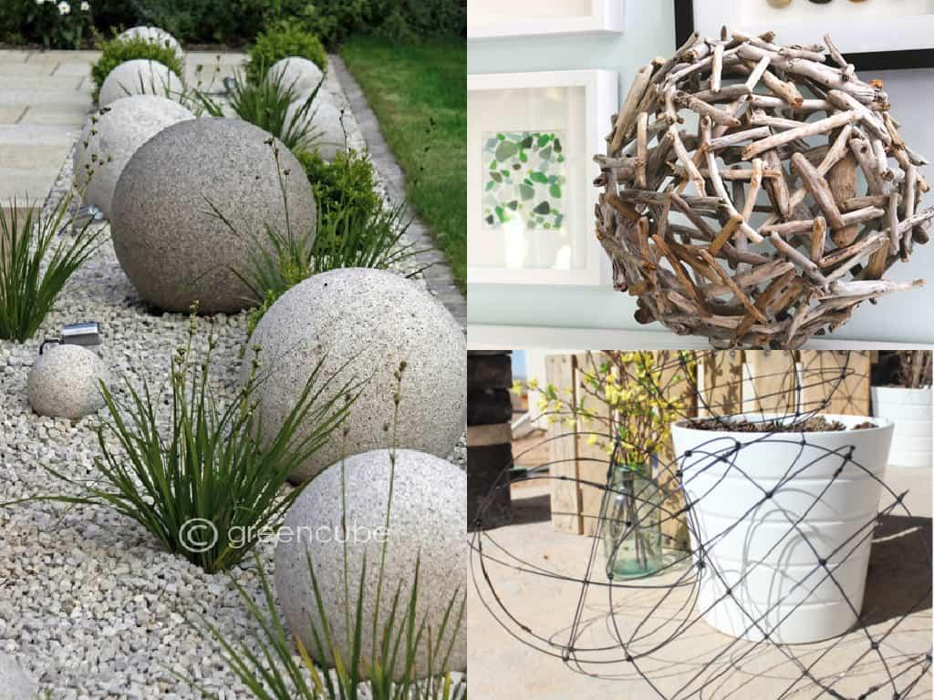 Decorare il giardino con le sfere guida giardino for Decorazioni giardino con sassi