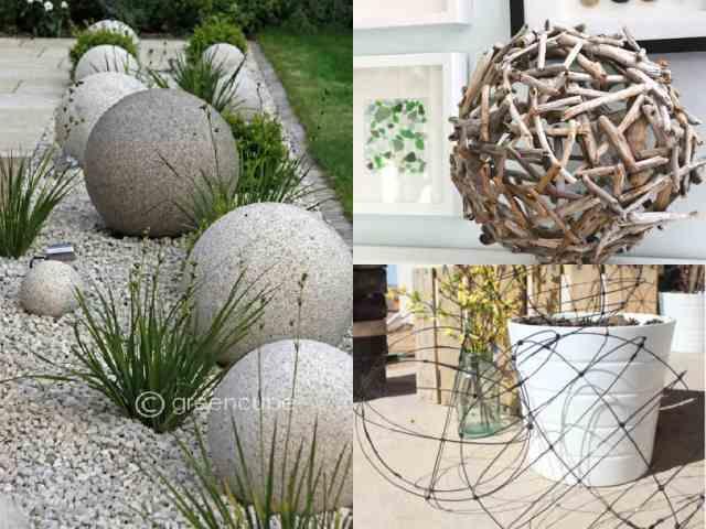 Decorare il giardino con le sfere guida giardino - Composizione giardino ...