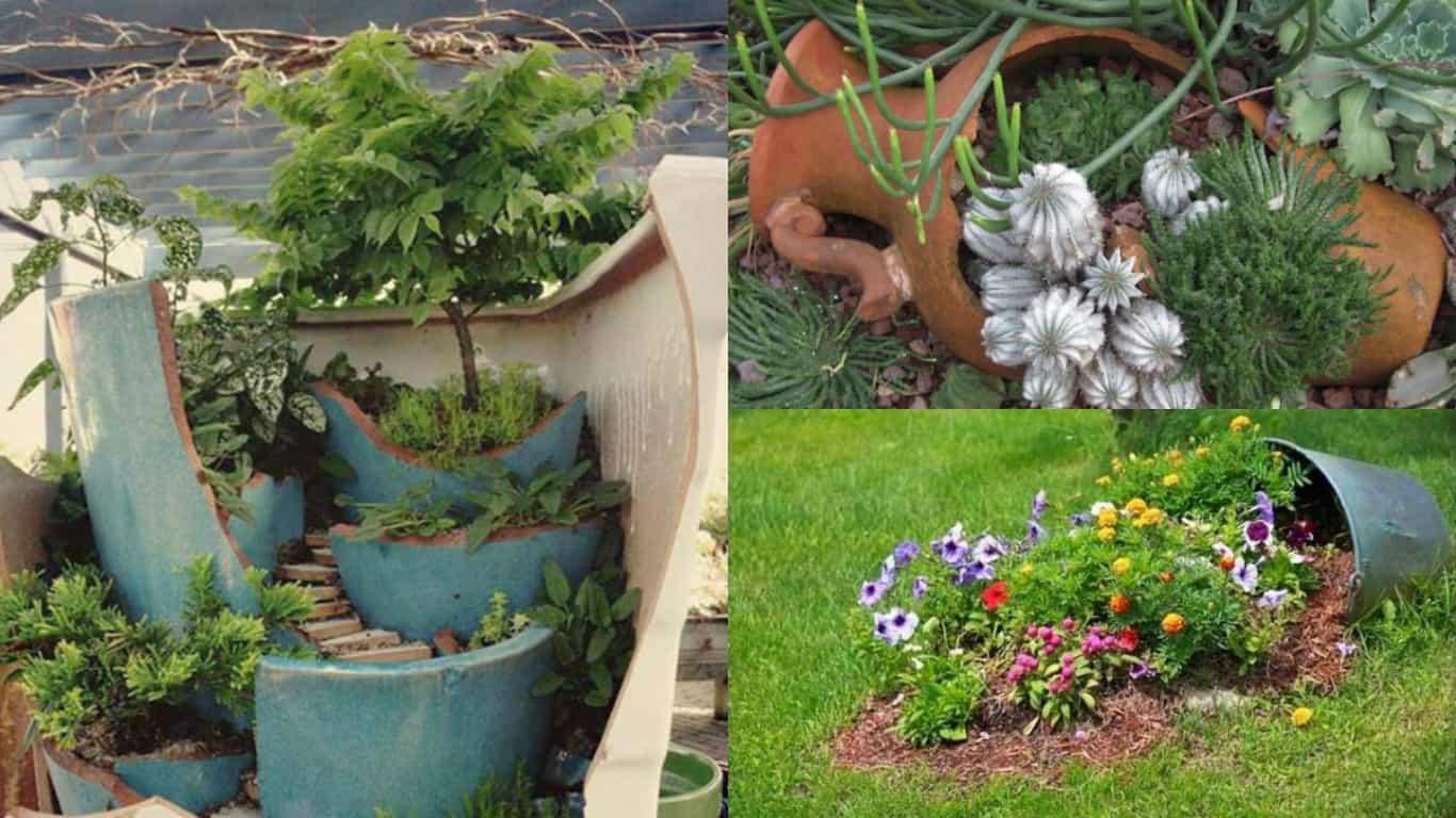 Decorazione Vasi Da Giardino : Idee originali per trasformare i vecchi vasi in nuovi ed