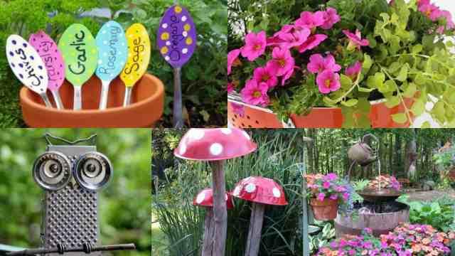 Riciclare oggetti da cucina per decorare il giardino 14 for Oggetti per giardino