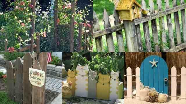 Steccati rustici ed originali 12 idee fai da te guida giardino - Recinzioni giardino fai da te ...