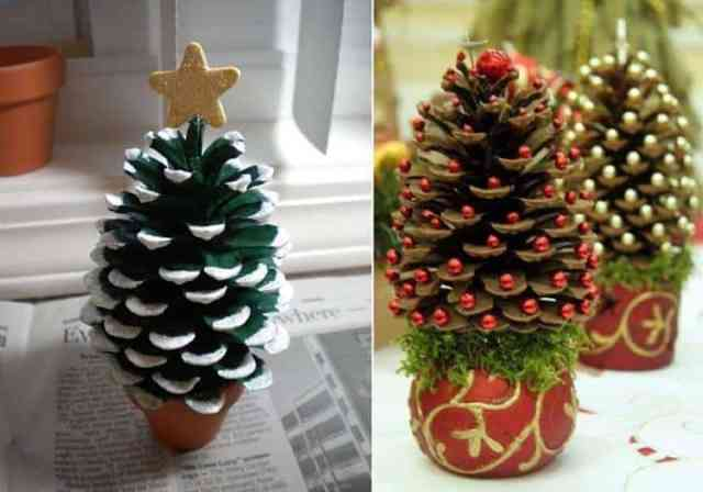 Decorare con le pigne  10 idee creative per Natale  43217e30e4fe