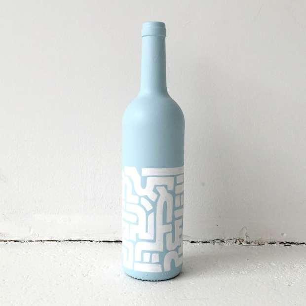 decorazioni fai da te con le bottiglie di vetro