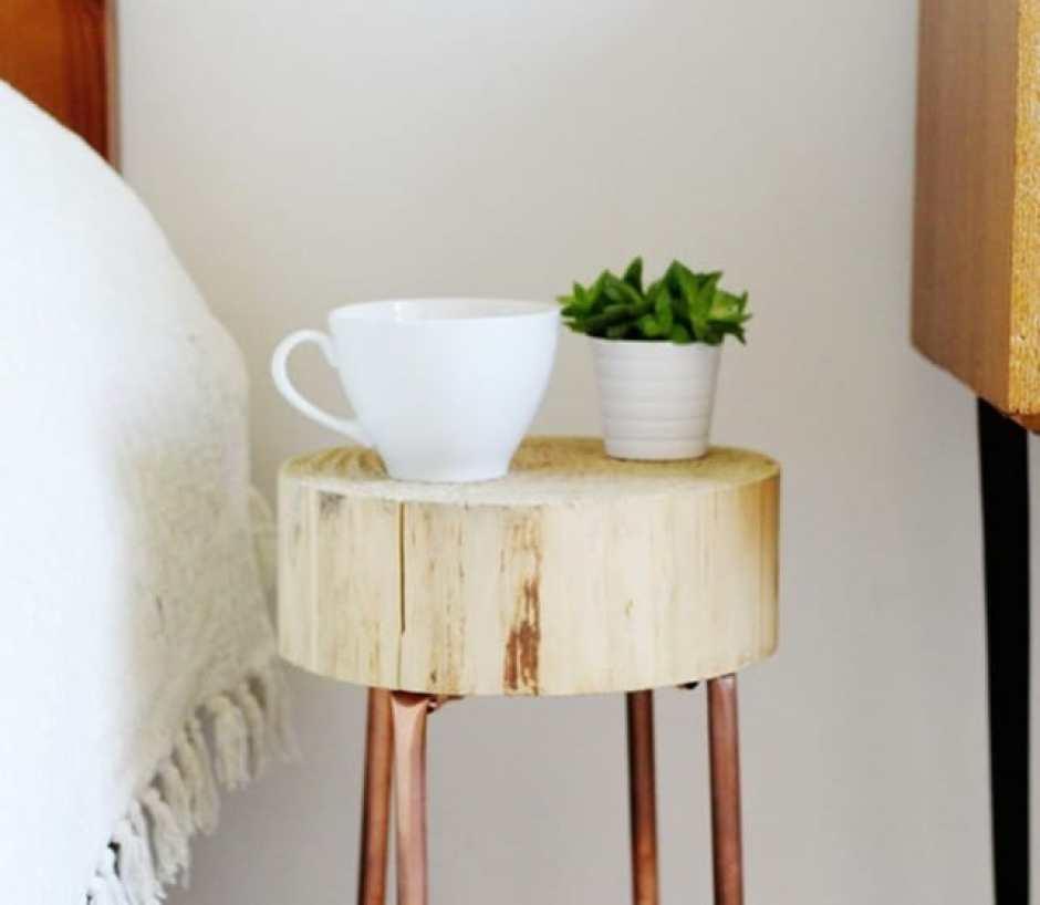 Tavolino fai da te in rame e legno