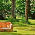 divano letto singolo estraibile per il giardino