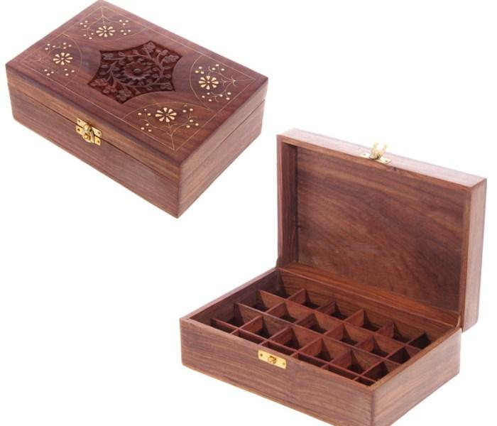 Boîte décorative à compartiments floraux