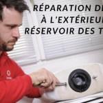 Comment réparer une fuite externe du réservoir toilette ?